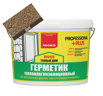 Герметик НЕОМИД Wood Professional PLUS Дуб 15 кг